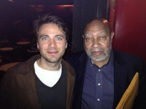 With Kenny Barron at the Village Vanguard, a few days before our recording.