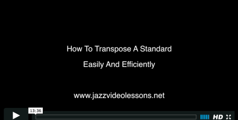 how to transpose a standard
