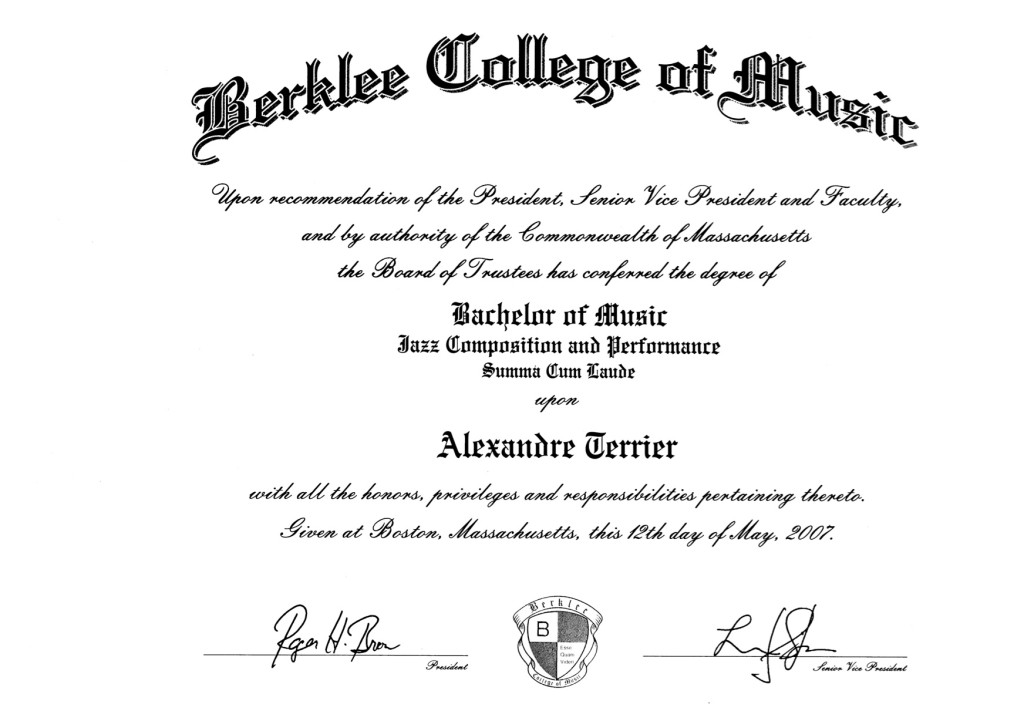Berklee Degree copy